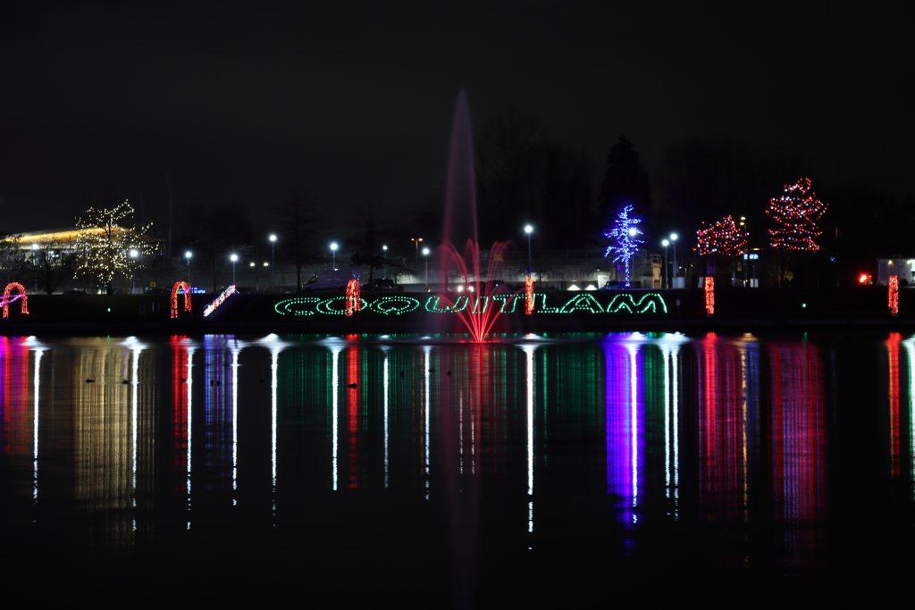 Lights at lafarge lake - Coquitlam